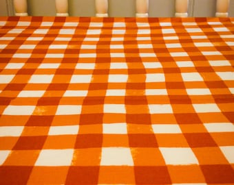 SALE - Crib Sheet - Apricot Gingham