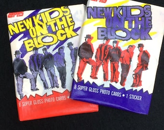 New Kids on the Block trading cards 1989