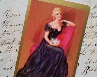 5 Vintage Glamorous Blonde Pin Up Playing Cards