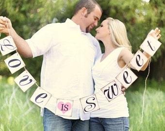 Love Is Sweet Banner - Wedding Banner Photo Prop - Wedding Sign - Wedding Decoration
