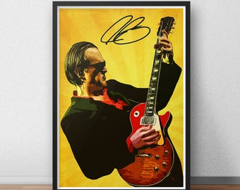 Joe Bonamassa - Joe Bonamassa art print - Music poster - art print - Rock art - Rock n roll - Music poster - Music gift