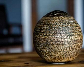 Industrial Wood Vase LC2