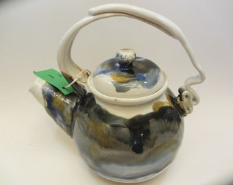 Ceramic Teapot; Ceramic coffee pot;  Wheelthrown teapot