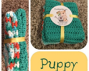 Crocheted Dishcloths-Puppy