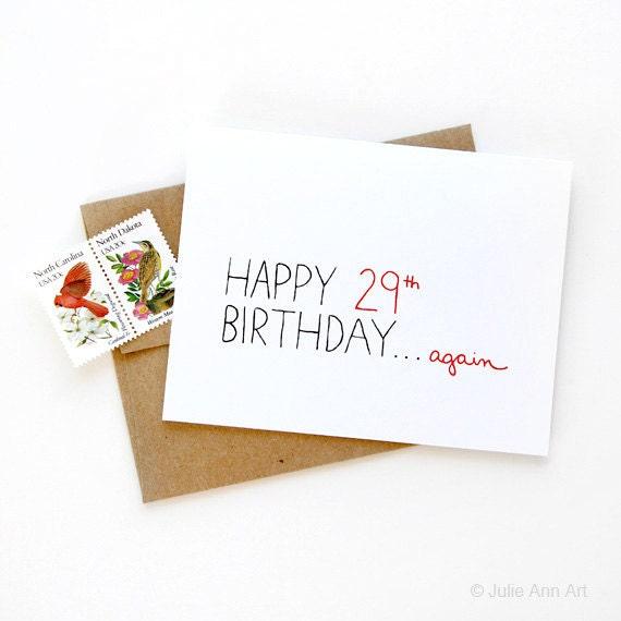 Funny 30th Birthday Card Happy 29thain