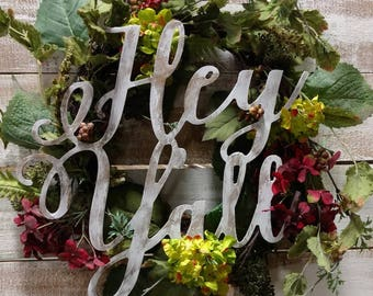 Hey Y'all* Huge* Southern* Decor* DIY* Sign* Gift*personalize* craft* initial* unfinished*