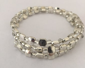 Silver Memory Wire Bracelet