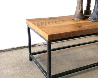 Industrial Coffee Table / Industrial Reclaimed Wood And Metal Coffee Table