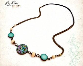Headband Cabochon • animal print • black purple green blue yellow leopard glass hair accessory