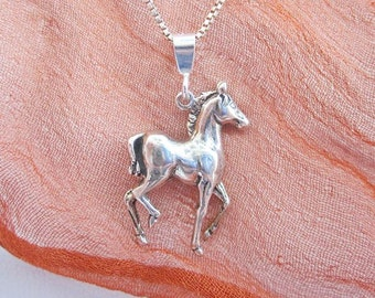 Horse Pendant Charm and Necklace - Horse Necklace, Horse Pendant, Horse Charm, Horse Jewelry, Colt Charm, Colt Necklace, Colt Pendant