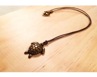 Rustic Turtle Necklace