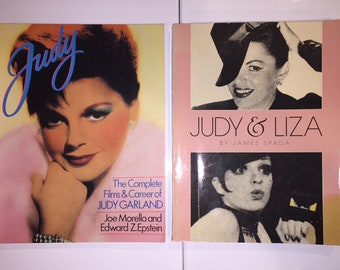 two vintage books JUDY GARLAND The Complete Films and Career and Judy Garland & LIZA Minnelli