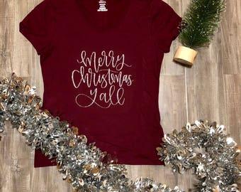 Merry Christmas yall christmas t shirt