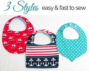 Baby Bib Pattern, Bib Patterns, Baby sewing pattern, Bib Pattern, Bib Patterns, Baby Bib Patterns, PDF Sewing Pattern, BASIC BIBS pattern