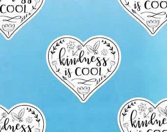 Kindness is Cool Gloss Sticker | Kawaii Cute Stickers