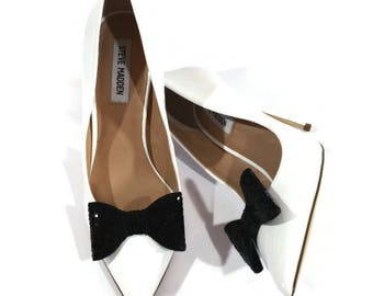Black Shoe Clips, Black Sequin Clips, Black Sequin Shoe Clips, Black Bridal Shoe Clips