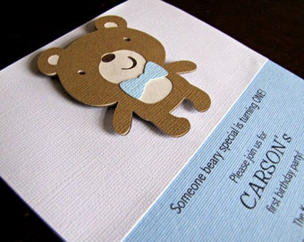 Build a bear invite etsy teddy bear party invitations teddy bear birthday invitation teddy bear baby shower invitation filmwisefo Images