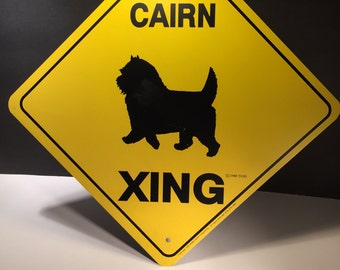 Vintage Cairn XING metal sign