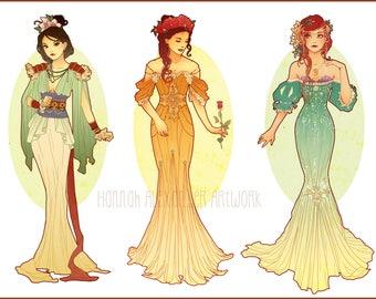 POSTCARDS || Art Nouveau Princess