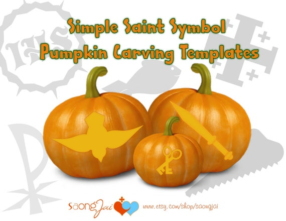 Simple saint symbol pumpkin carving templates like this item maxwellsz