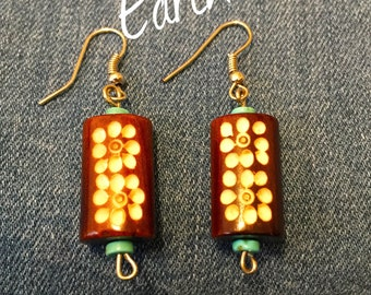 Bohemian Earrings casual earthy look.