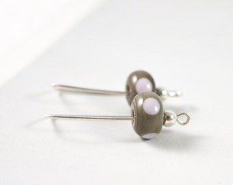Drop Earrings, Simple Earrings, Grey Earrings, Simple Jewellery, Modern Earrings, Silver Earrings, Australian Jewellery, FREE SHIPPING