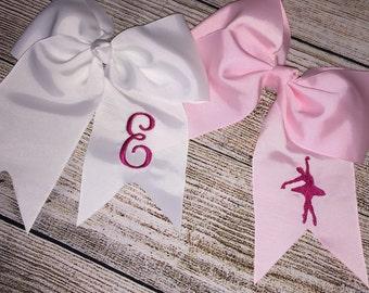 Embroidered Ballerina Hair Bow