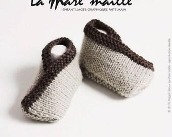 Baby Brown wool handknit de La Mare' mesh