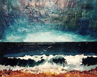 landscapes , sea shore, lake , painting, paintings