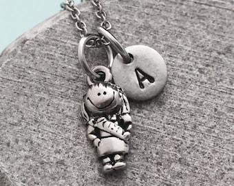 Scout necklace, Scout charm, activity necklace, personalized necklace, initial necklace, monogram