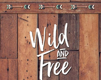 Wild And Free Decal | Yeti Decal | Yeti Sticker | Tumbler Decal | Car Decal | Vinyl Decal