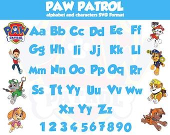 paw patrol font generator