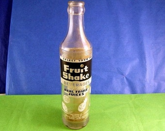 VFC Donation - Volunteer Fire Company Needs Help - Vintage Fruit Shake Bottle - 100% Benefits the Donora VFC