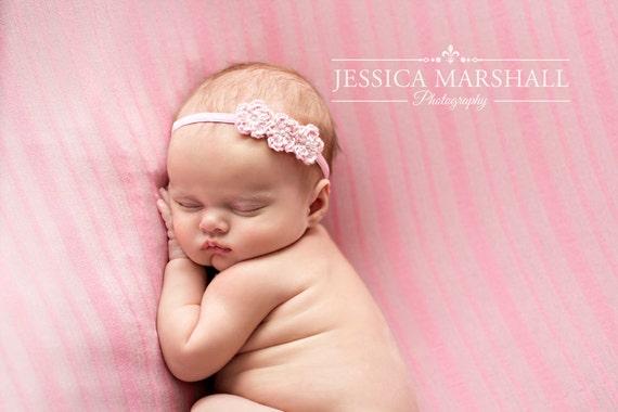 Newborn headband crochet headband baby girl photography prop