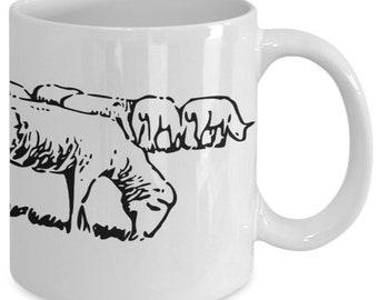 Sheep wrap around - coffee mug