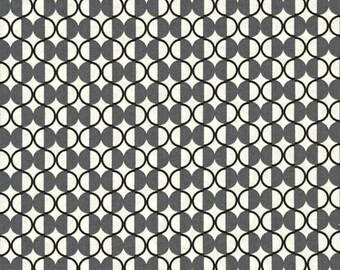 Chic Neutrals Graphite Gray Geometric Bangle Cotton Quilting Dot Half Moon Fabric for MODA 3513 14