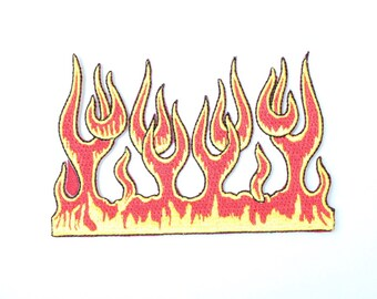 Vintage 90s Flame Patch