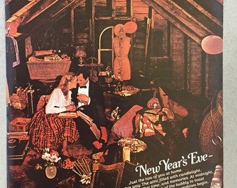 1980 Smirnoff Vodka Print Ad - New Year's Eve