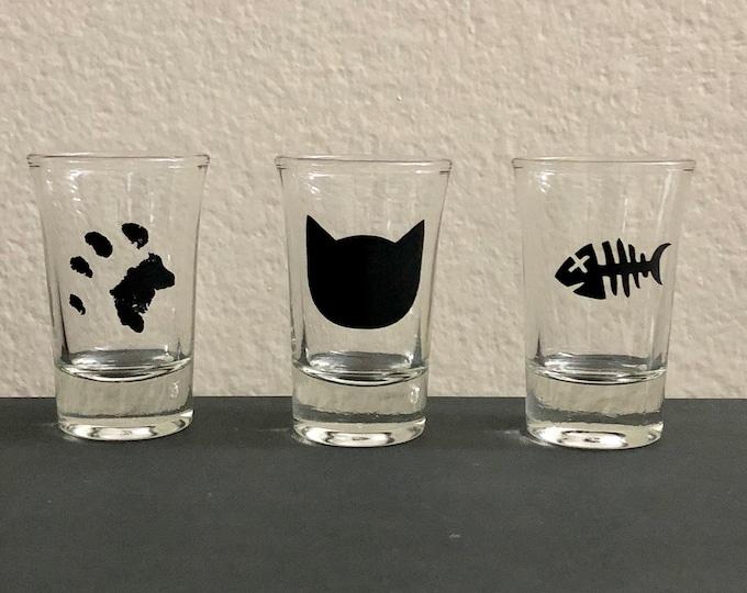 Cat Themed Shot Glasses