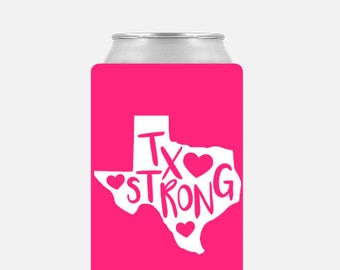 Texas Strong - Hurricane Harvey Relief Fund - Donate to Hurricane Harvey - Houston Flood Relief Fund - Harvey Donations - Texas Can Cooler