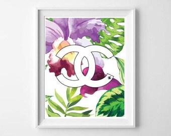 Chanel Print / Chanel Printable Download / Chanel Wall Art / Chanel Poster / Chanel Digital Download / Chanel Home Decor