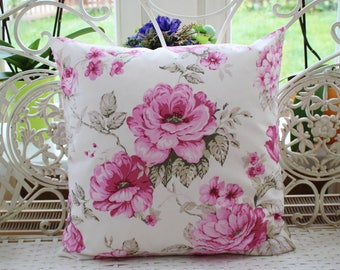 Pillow Cover Pink Roses 50 x 50 cm