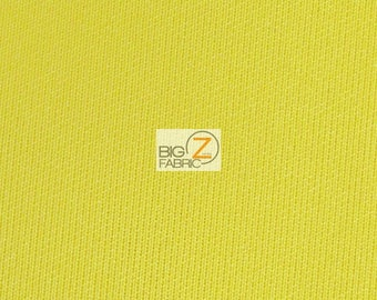 "Neoprene Scuba Techno Athletic Double Knit All-Purpose Fabric - YELLOW - Sold By The Yard 58"" Width Lycra Active wear"