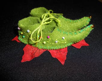 Handmade felt Fairy shoes