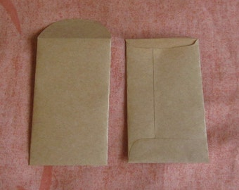 "200 Brown Coin Envelopes - 2 1/8"" x 3 5/8"", Brown Seed Envelopes, Confetti Envelopes, Seed Packets, Wedding Favors, Confetti Bags"