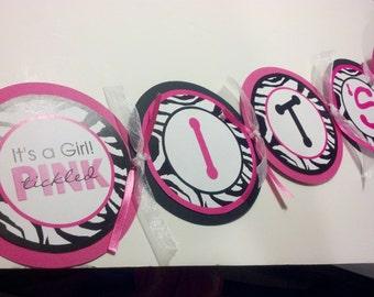 Tickled Pink Baby Shower Banner