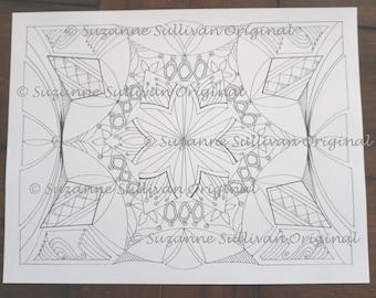 Mandala Coloring Pages Adults Printable : Printable coloring page mandala coloring page coloring for