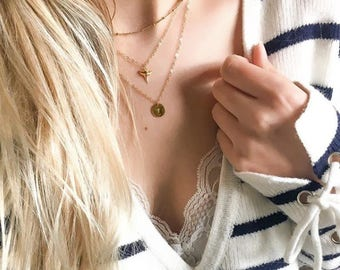 Trio of Bohemian style necklaces