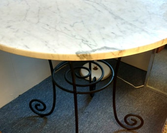 """Marble Bistro Table 36"""""""