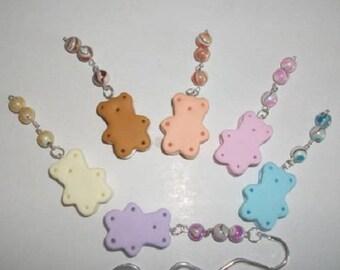 Bookmark polymer clay Teddy bear cookies